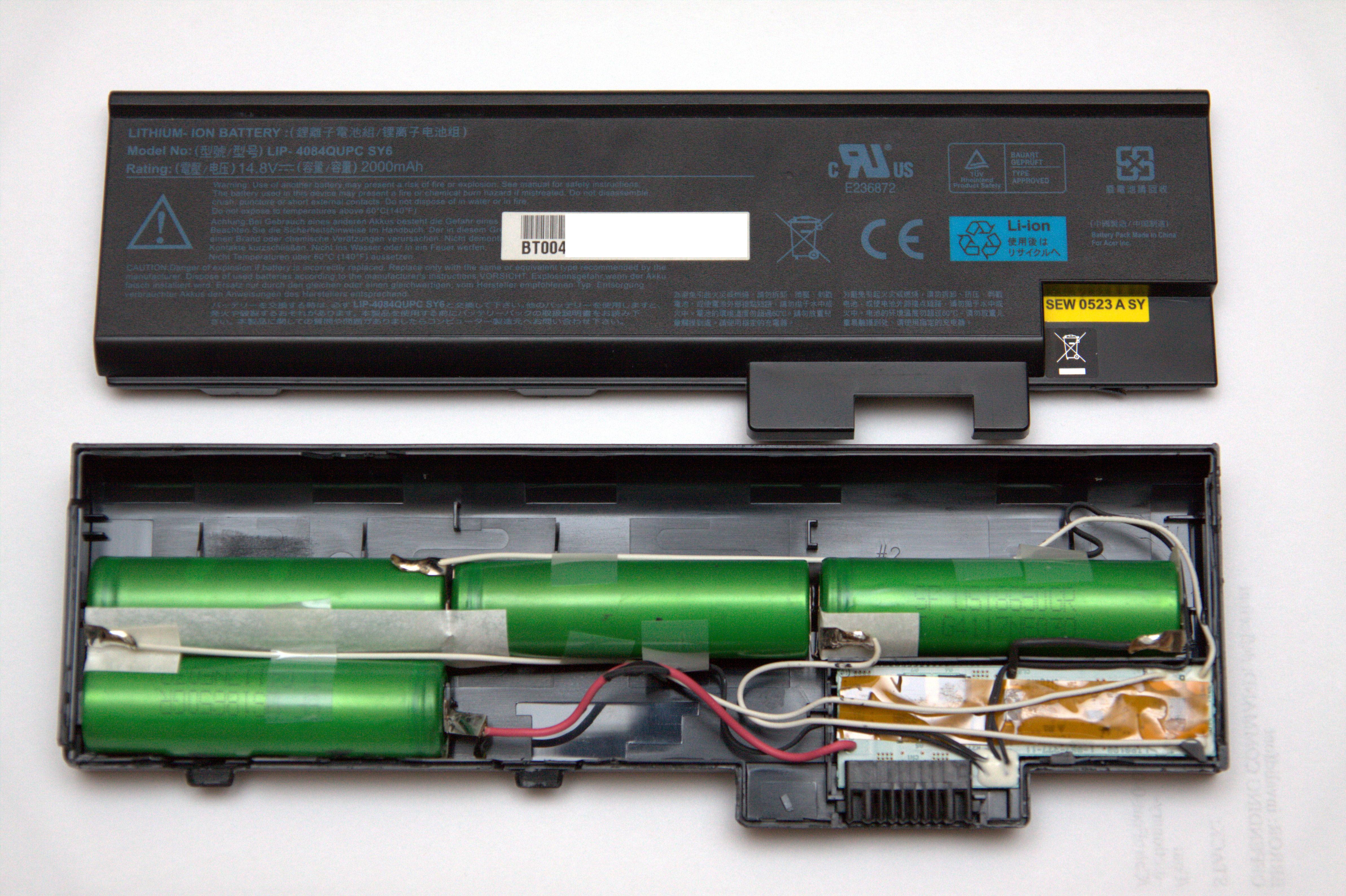 Acer Aspire 3000 Battery Internals