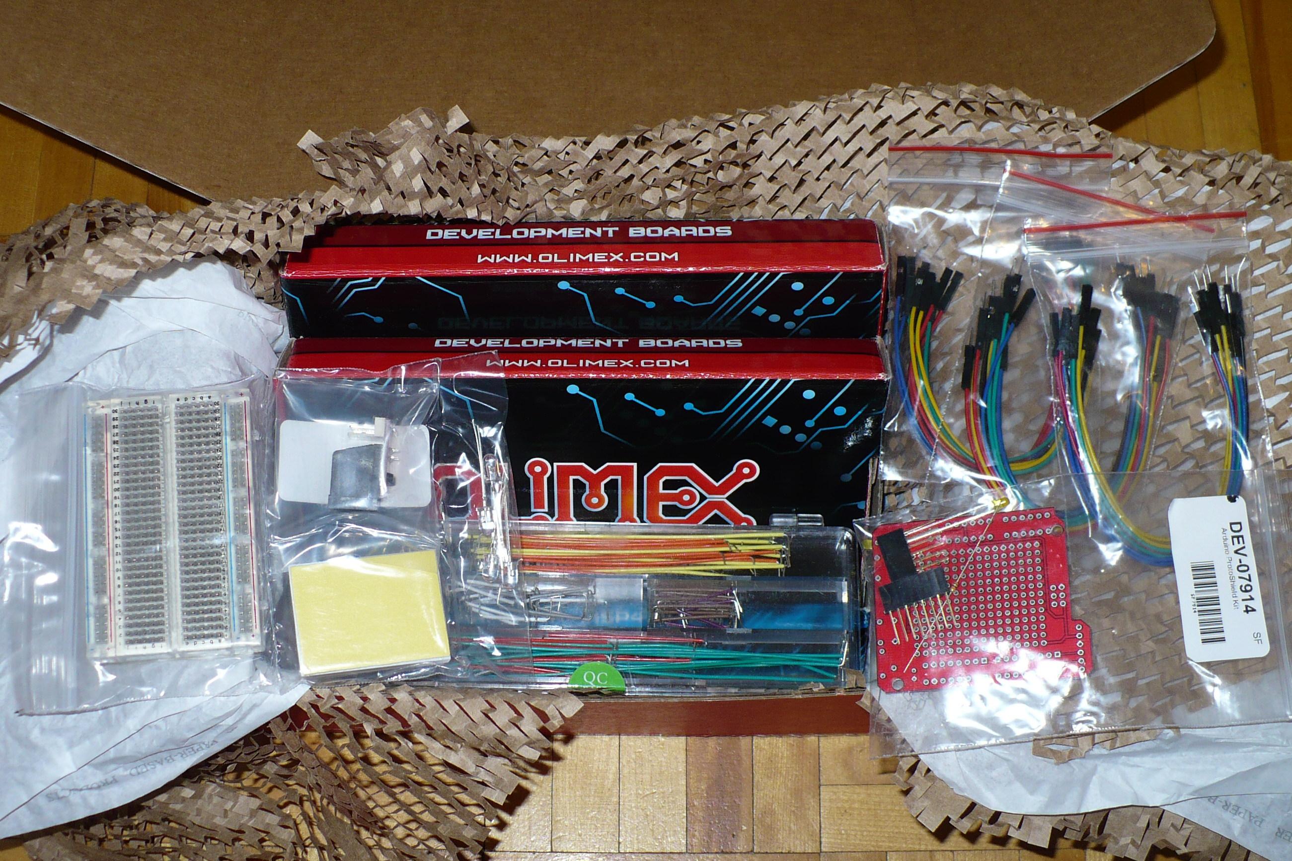 Sparkfun.com Stuff: Arduino Shield, Breadboarding Supplies, etc