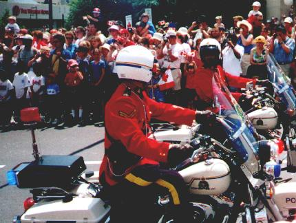 RCMP on Motorcycles