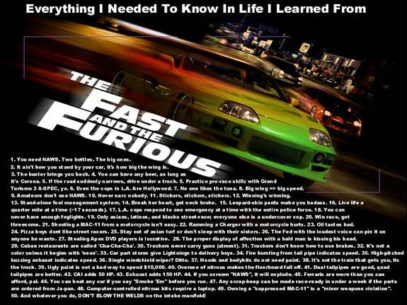 """Everything I Needed to Know in Life I Learned from The Fast and the Furious"""