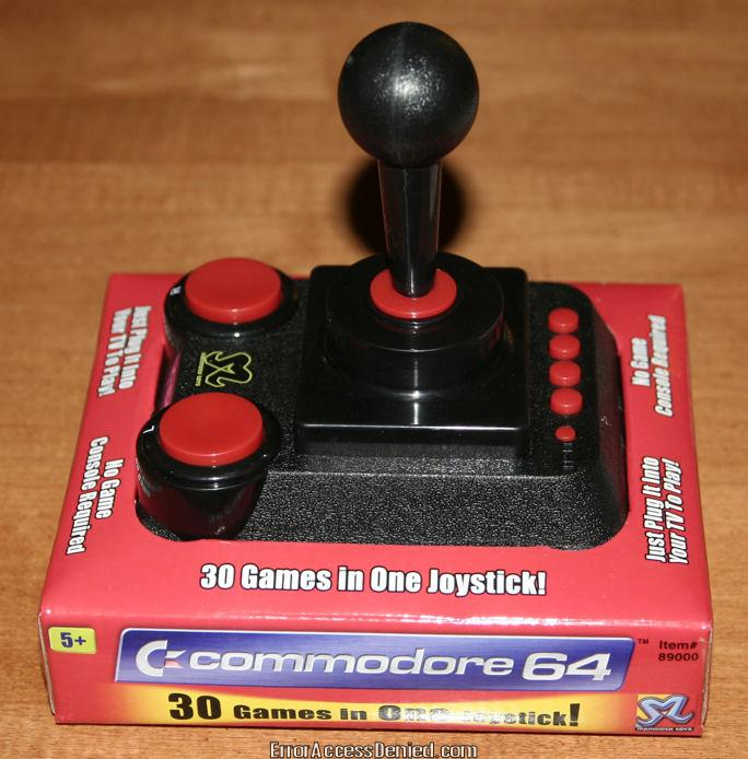 C64 Direct-to-TV Joystick