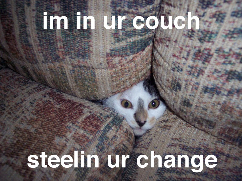 im in ur couch steelin ur change