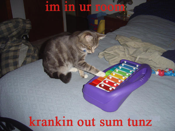 im in ur room krankin out sum tunz