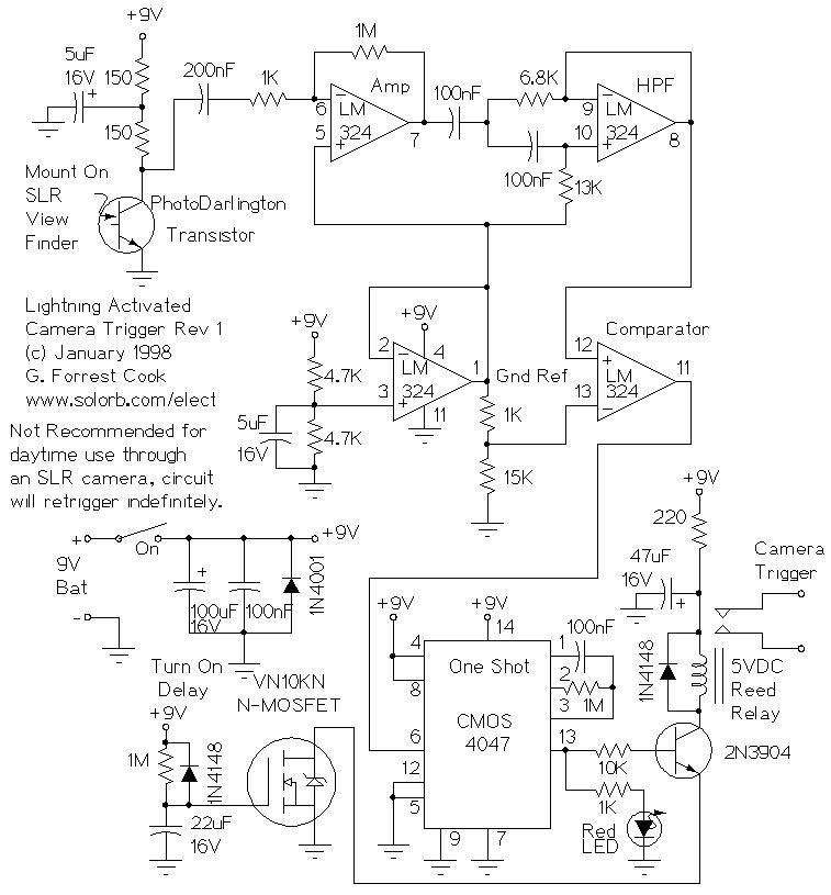 Lightning-Activated Camera Shutter Trigger