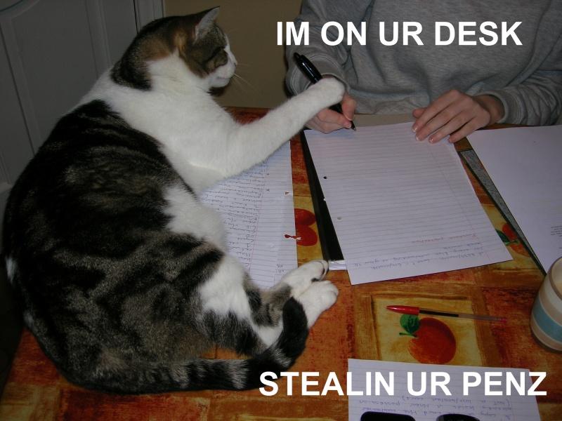 im on ur desk stealin ur penz