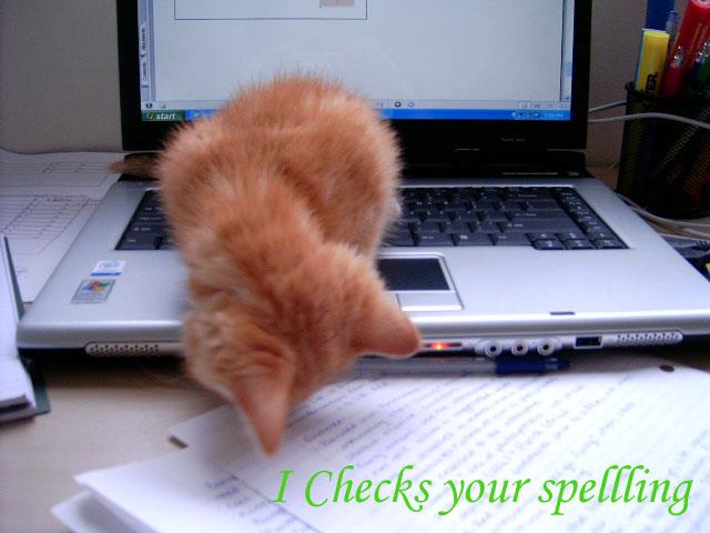 I Checks your Spelling